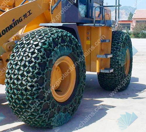 20.5/70-16 tire protection chains/tire chains working at mining
