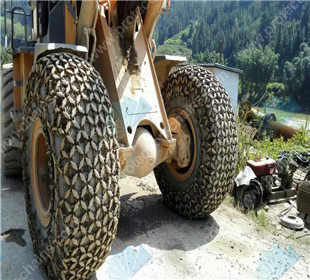 20.5-16 tire protection chains/tire chains used on CAT working at dolomite