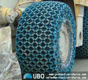 26.5-25 tire chains working at a open pit made in china
