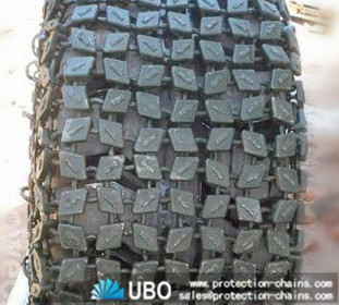 Casting encryption link used for wheel loader tire protection chain