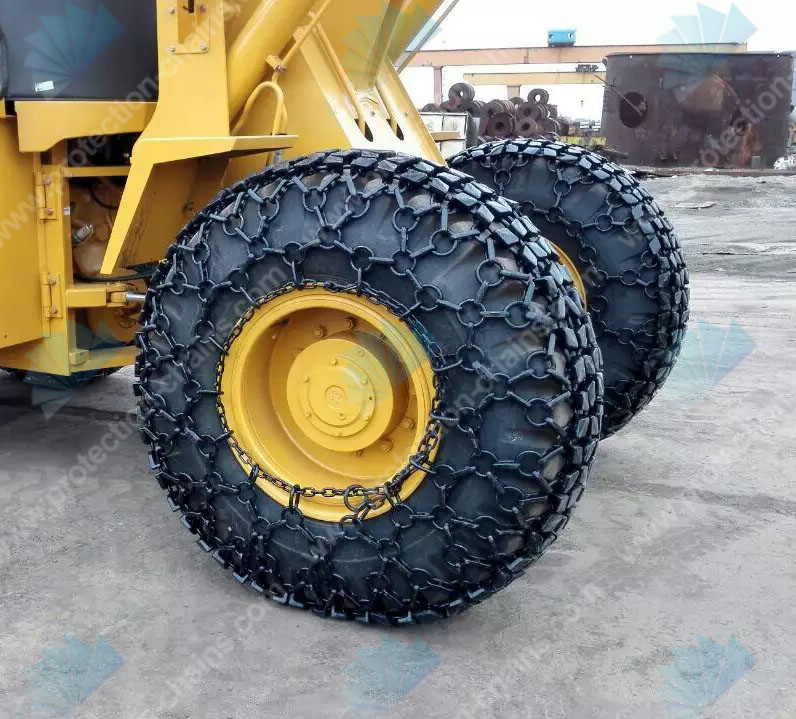 Steel mesh used on wheel loader for tire protection chain