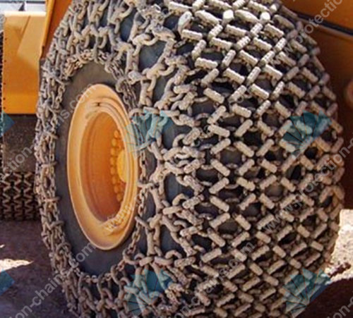 Steel custom 45/65-45 tractor tire chains for hot slag