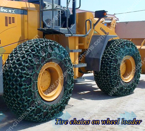 Steel mesh 10x10 type tire chains/chains used on tractor or loader