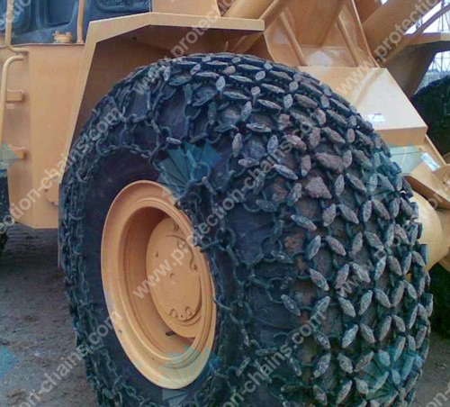 23.5-25 snow tire chains used on loader