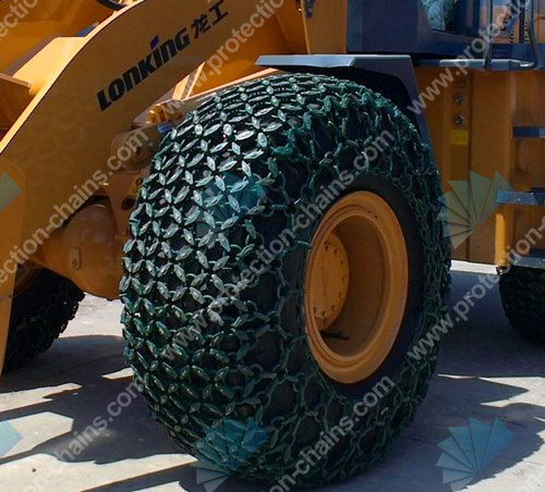 OTR alloy steel 23.5-25 protection chain used on loader