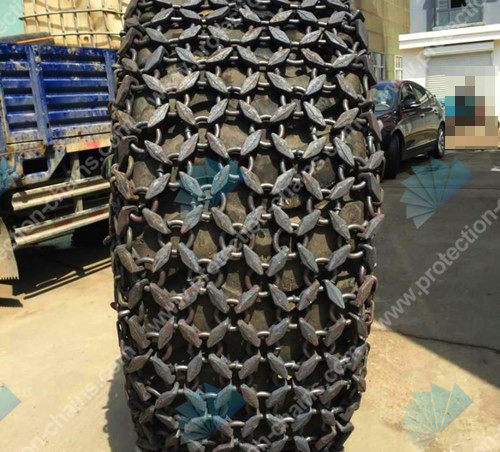 Volvo loader alloy steel tire chain 20.5-25 for quarry