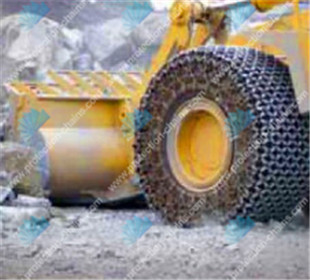 23.5-25 tire chains working at a limestone quarry LiuGong tyre protection chain