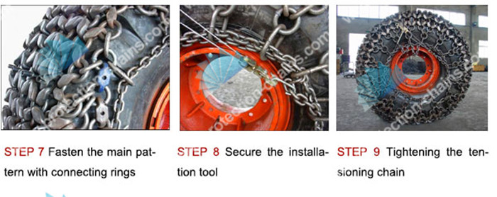 Steel mesh 4x4 type used on <a href='http://www.protection-chains.com' target='_blank'>tire protection chain</a>
