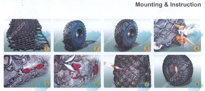 CAT Wheel Loader 992K 45/65-45 <a href='http://www.protection-chains.com' target='_blank'>tire protection chain</a>s